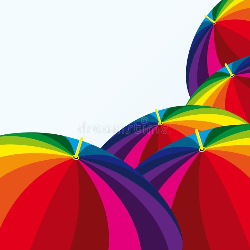 Funny umbrellas vector illustration
