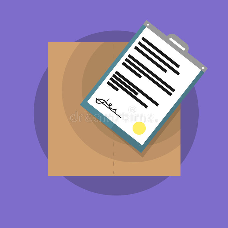 Funny vector object. Box royalty free stock photography