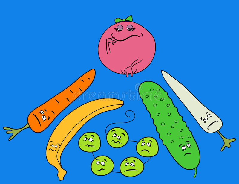 Download Funny Vegetables stock vector. Image of tomato, background - 13069057