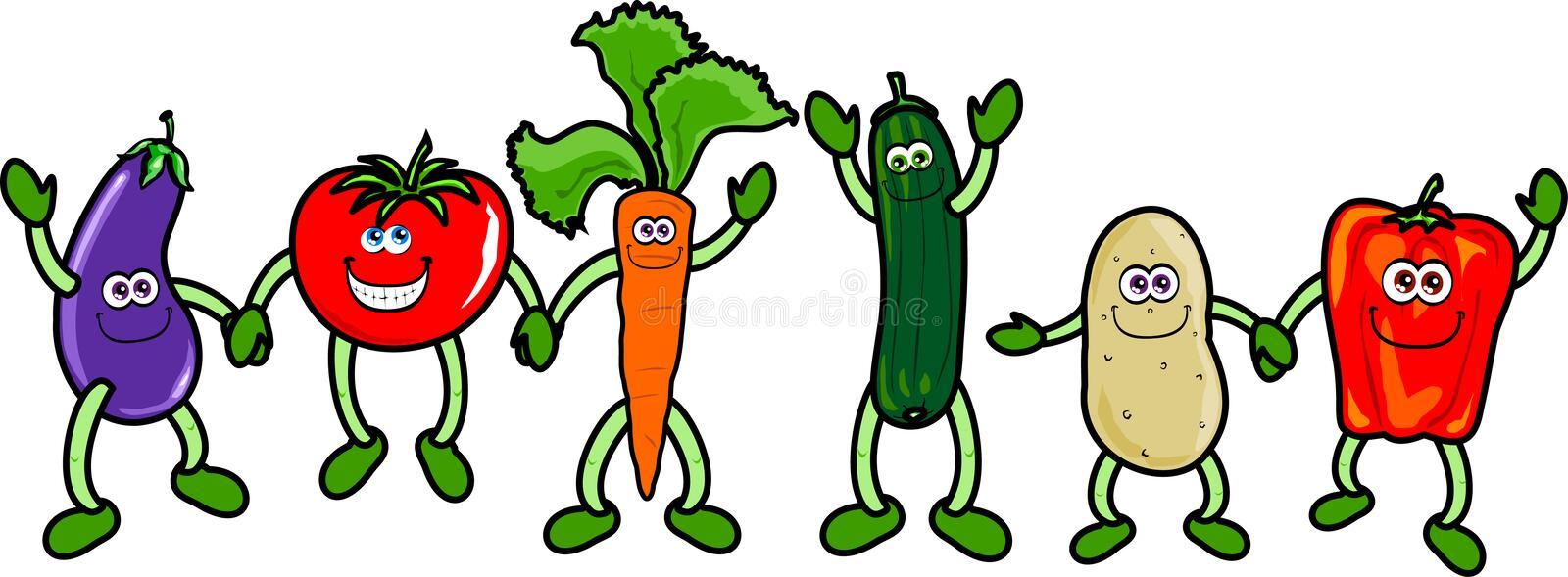 Funny vegetables royalty free stock image