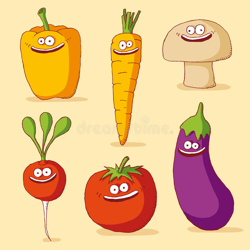 Download Funny vegetables stock vector. Image of eyes, clip, drawing - 19297203