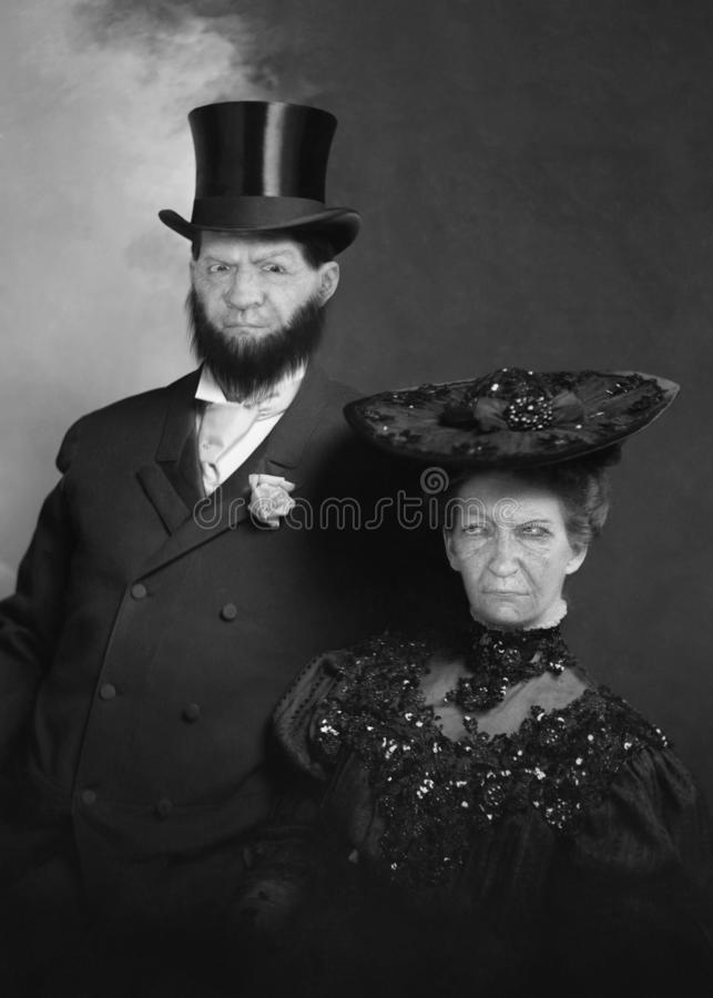 Funny Vintage Retro Couple, Love, Romance royalty free stock image