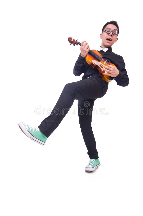 Download Funny violin player stock photo. Image of male, isolated - 33224854