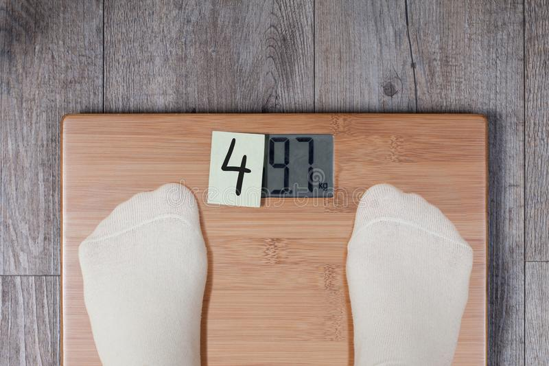 Funny weight concept royalty free stock image