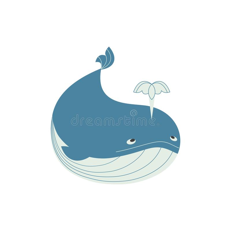Funny whale icon stock illustration