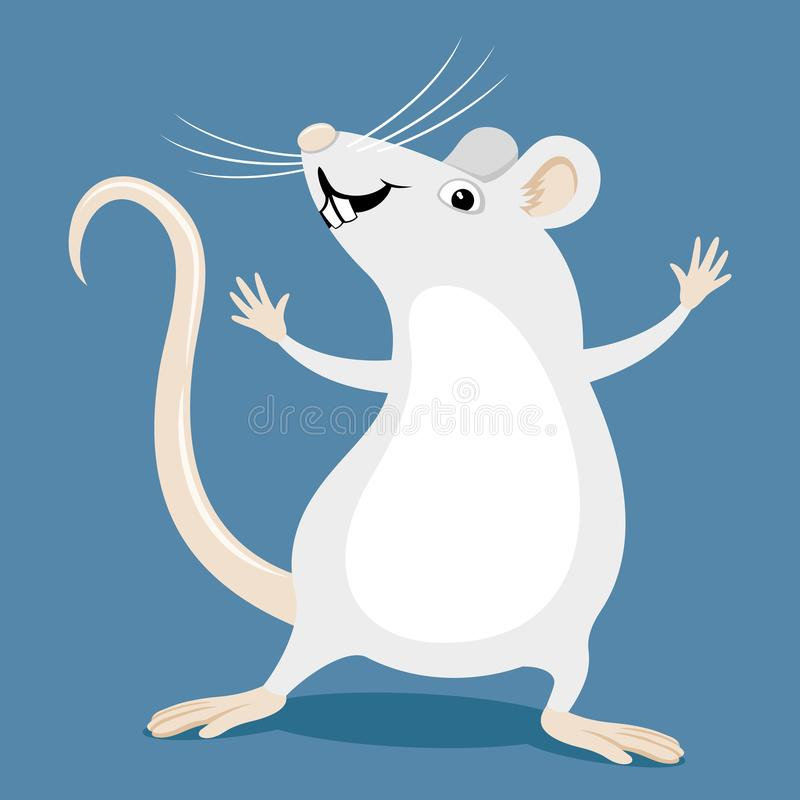 Free Funny White Rat. Royalty Free Stock Photography - 163188767