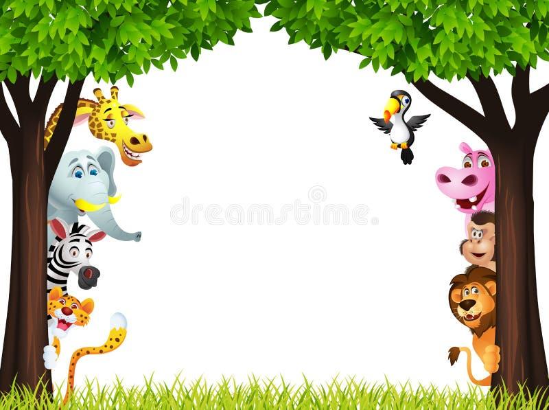 Funny Wild African Animal Cartoon Royalty Free Stock Photo
