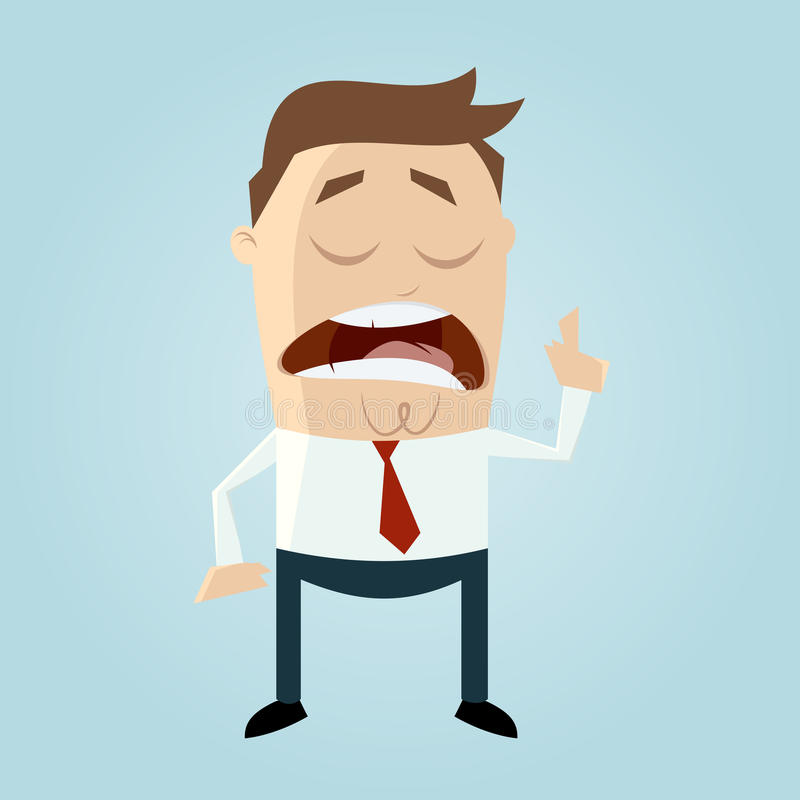 Funny wise guy. Illustration of a funny wise guy vector illustration