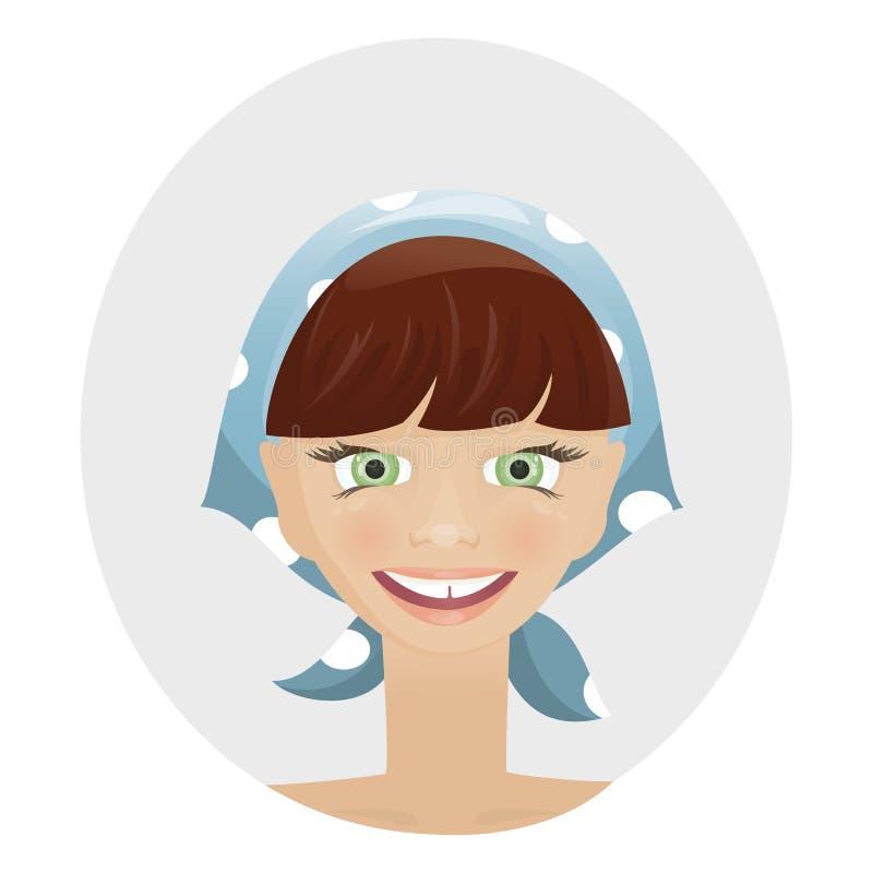 Funny woman royalty free illustration