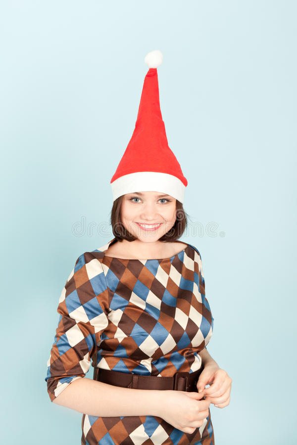 Download Funny woman in cap smiling stock photo. Image of blue - 21498164