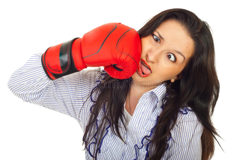 Download Funny woman hit itself stock image. Image of corporate - 20311321