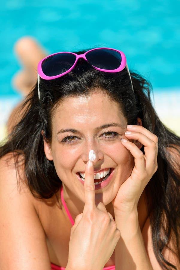 Download Funny Woman Summer Sunbathing Stock Photo - Image: 32159406
