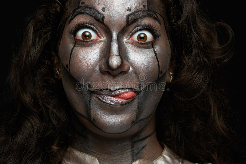 Funny women face stock image