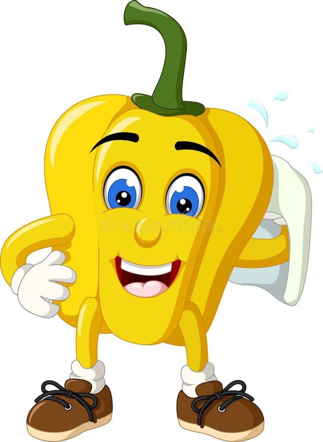 Free Funny Yellow Paprika Cartoon Stock Photo - 152510000