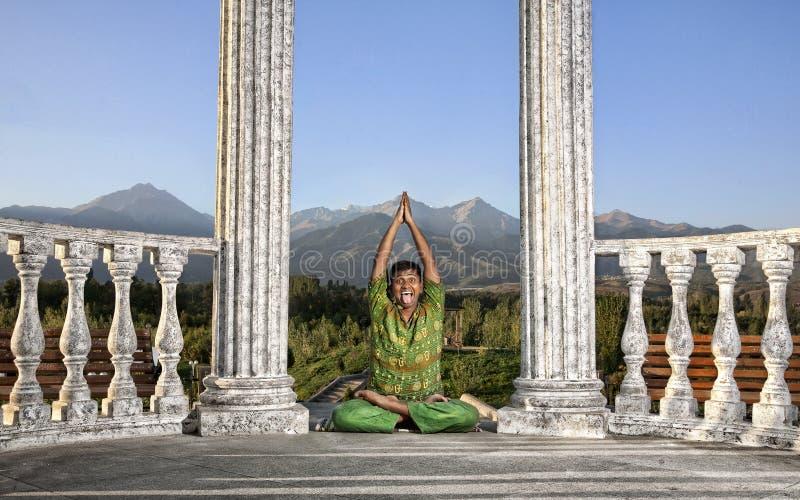 Funny Yoga lotus pose
