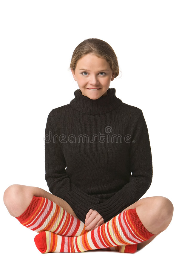 Download Funny yogi stock image. Image of brown, girl, close, legs - 7503675