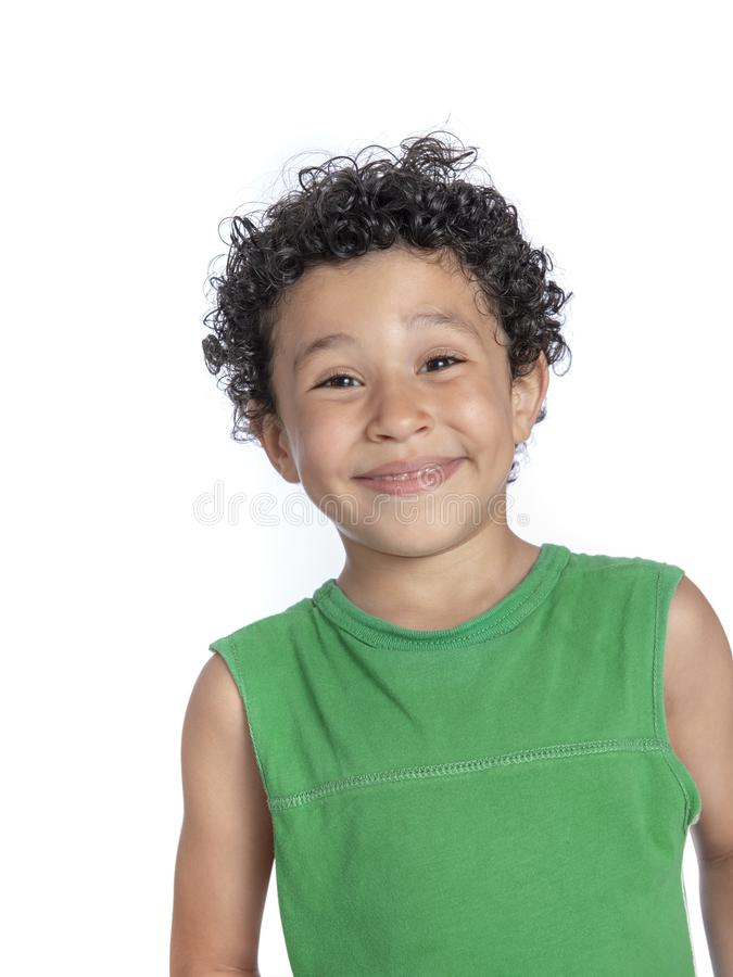Happy Young Boy with Funny Smile stock photography