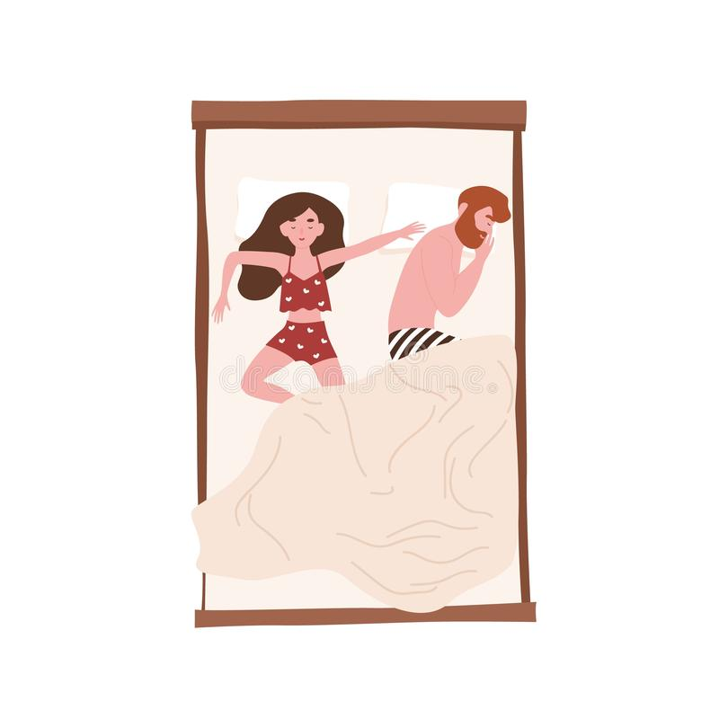 Funny Cartoon Man Sleeping Stock Illustrations – 542 Funny
