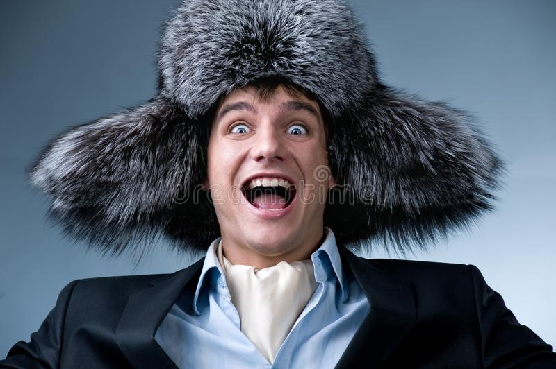 Funny young man stock image
