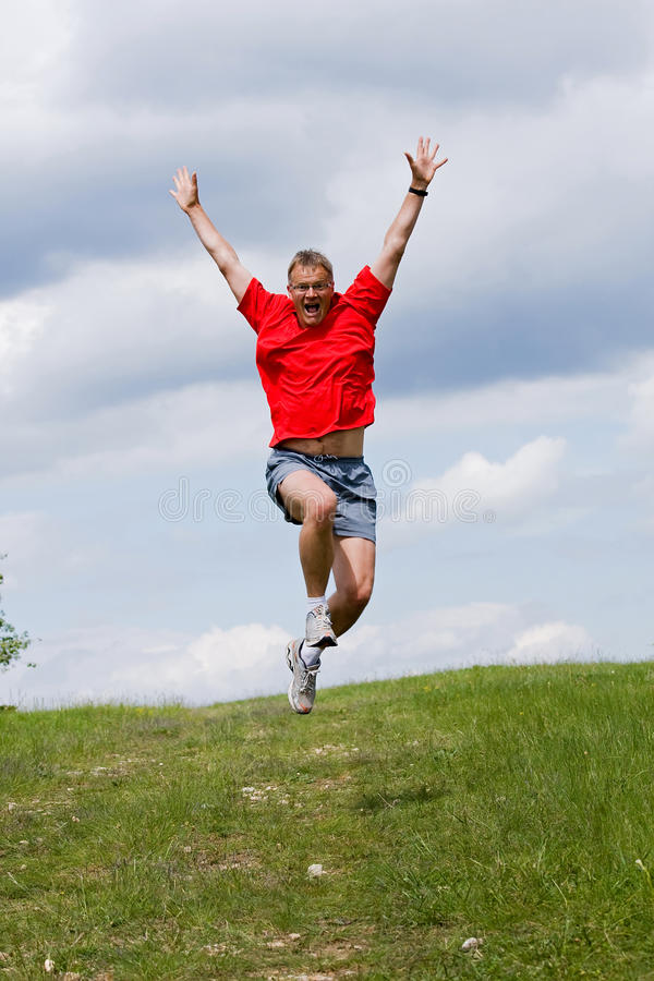 Download Funny young man stock image. Image of quickly, jump, exercise - 14484553