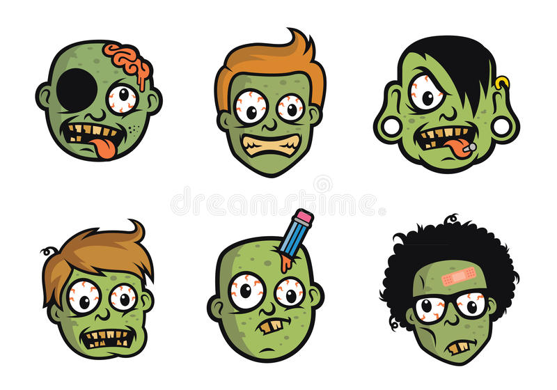 Character Design Books Free Download : Funny zombie head character design stock vector