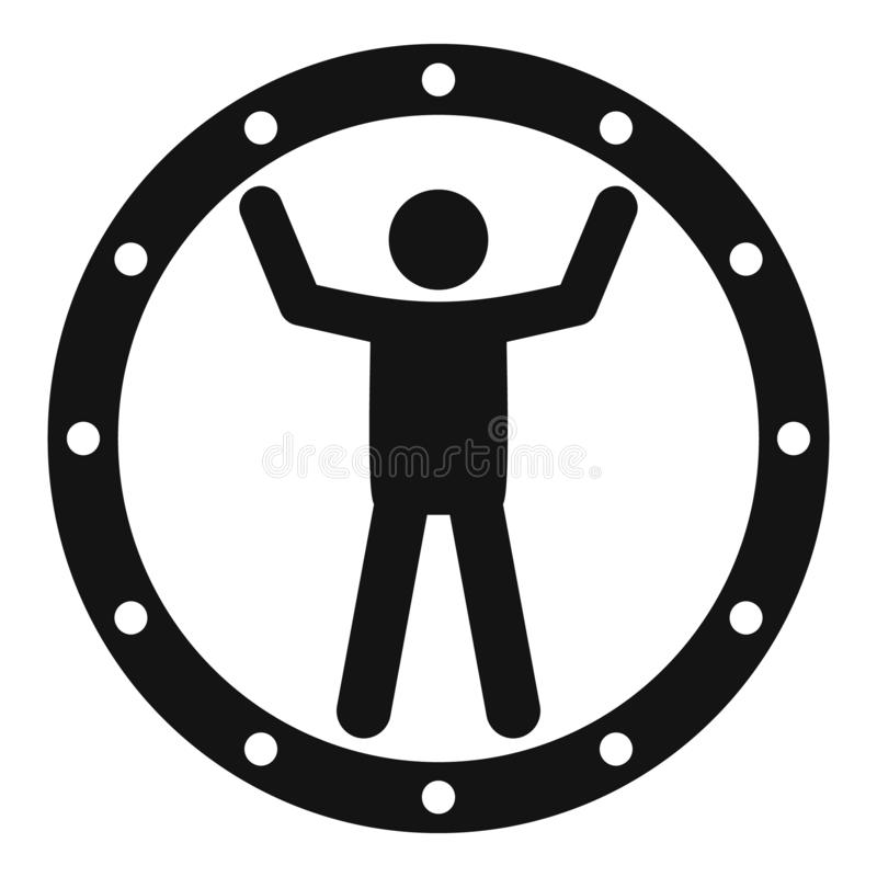 Funny zorb icon, simple style royalty free illustration