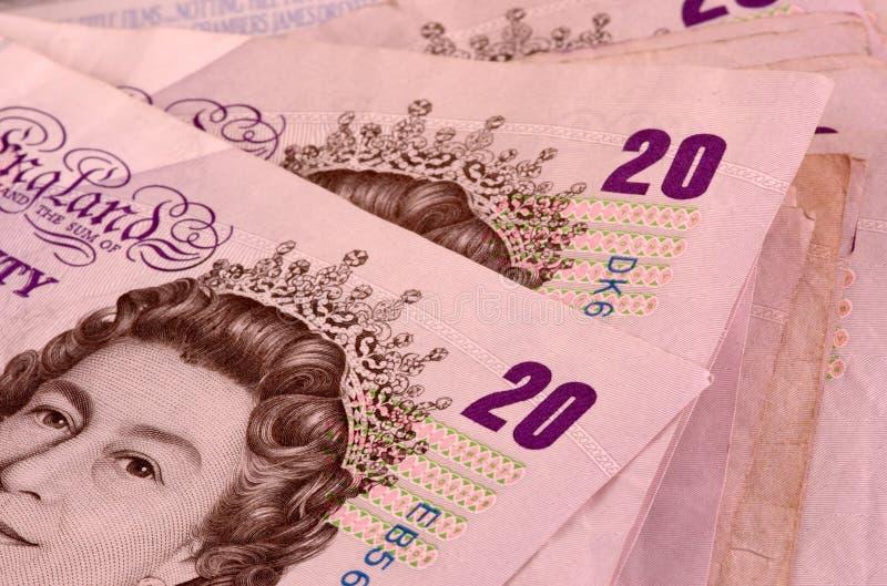 funt banknotów 20 fotografia royalty free