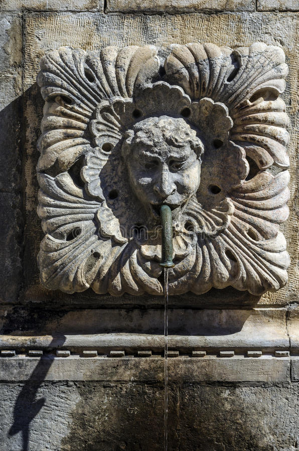 Funtain gargoyle royalty free stock photo