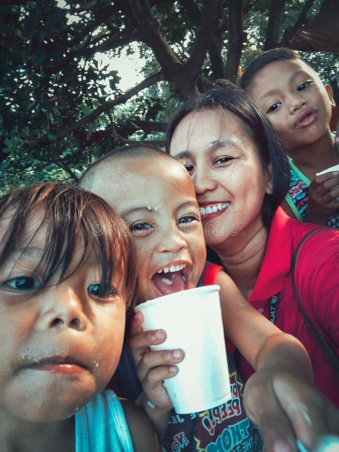 Funtime with the kids. Talisay City, Cebu, Philippines stock photography