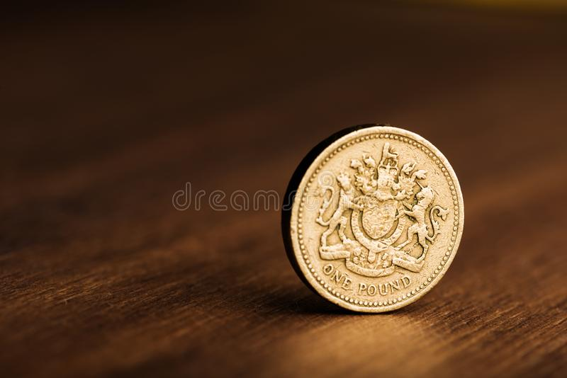 Funtowa GBP moneta obrazy stock