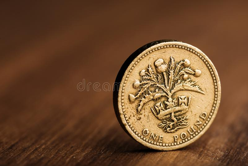Funtowa GBP moneta zdjęcie royalty free