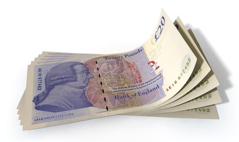 Funtowi banknoty Rozprzestrzeniający zdjęcie stock