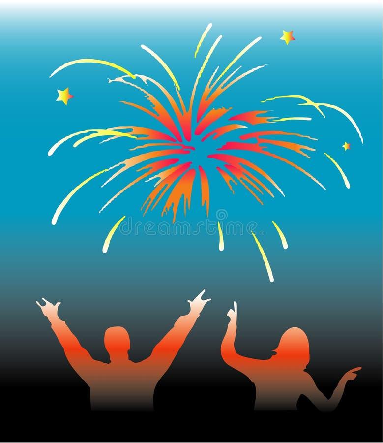 Funy nieuwjaar stock illustratie