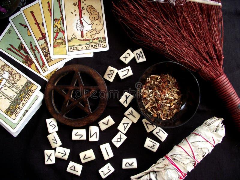 Funzionamenti di Wicca fotografia stock libera da diritti