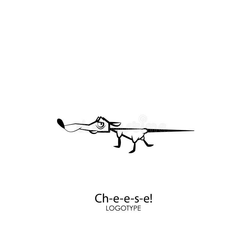 Funzionamenti divertenti del topo illustrazione di stock