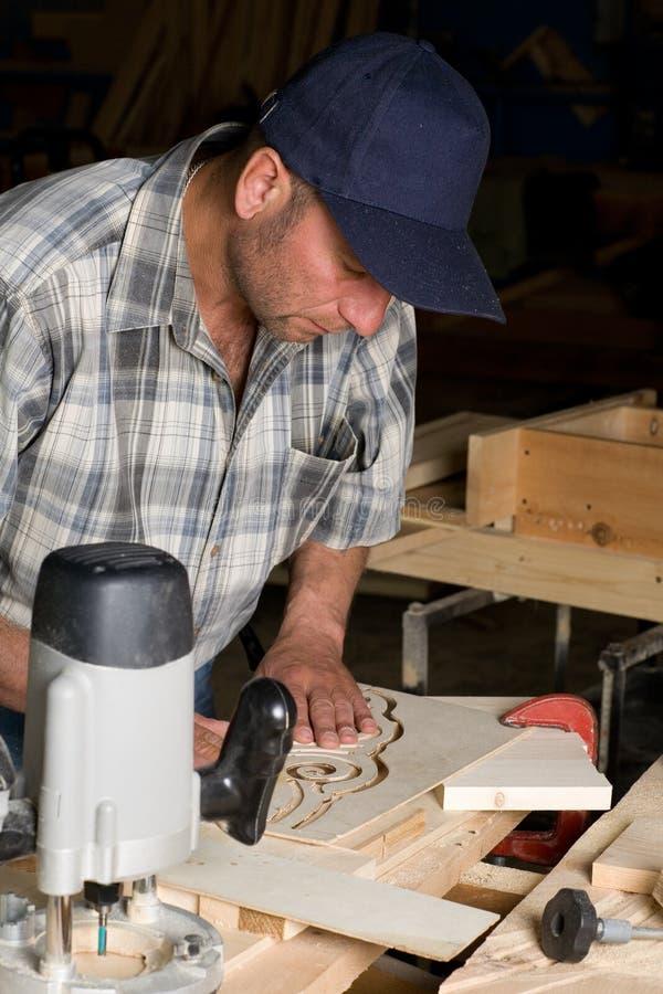 Funzionamento del carpentiere immagine stock libera da diritti
