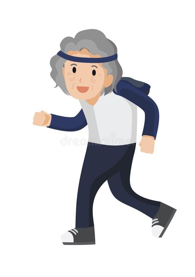 Funzionamento della signora anziana royalty illustrazione gratis