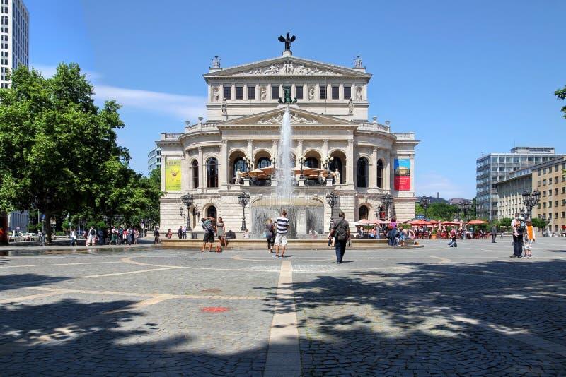 Funzionamento di Alte, Francoforte, Germania immagine stock