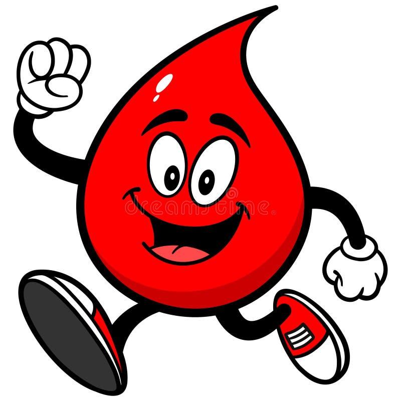 Funzionamento di goccia del sangue royalty illustrazione gratis