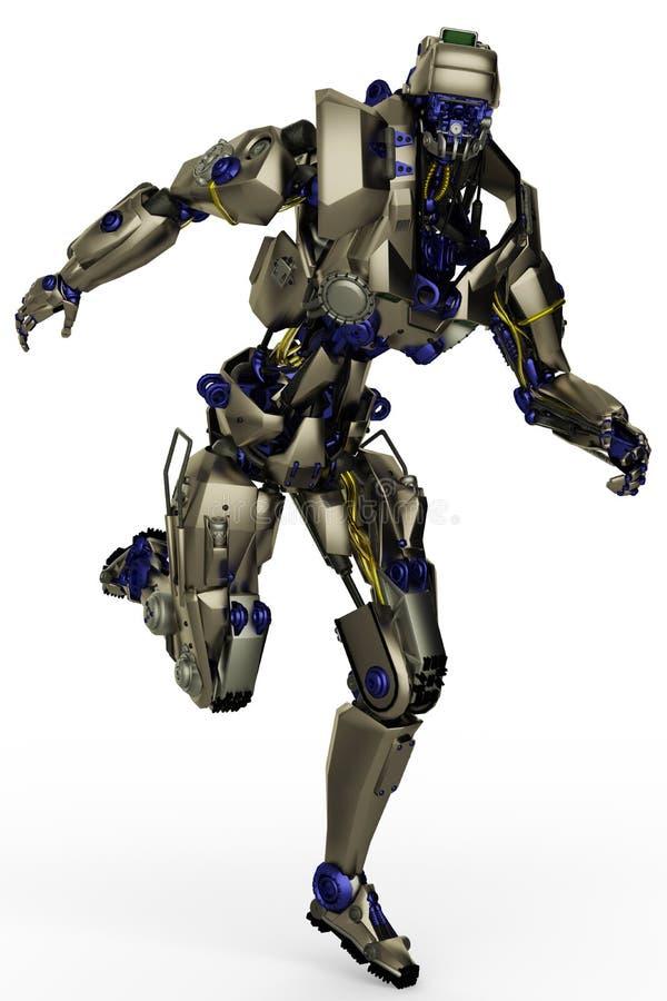 Funzionamento eccellente del robot illustrazione di stock