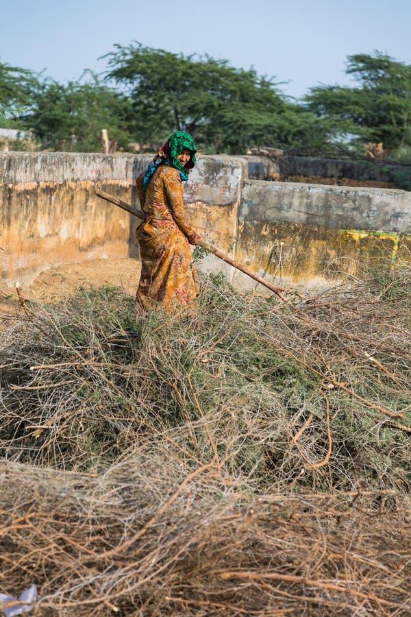 Funzionamento indiano della donna fotografia stock libera da diritti