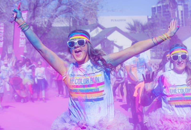Funzionamento Las Vegas di colore immagini stock
