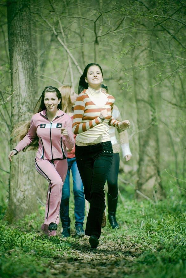 Funzionare delle donne fotografia stock libera da diritti