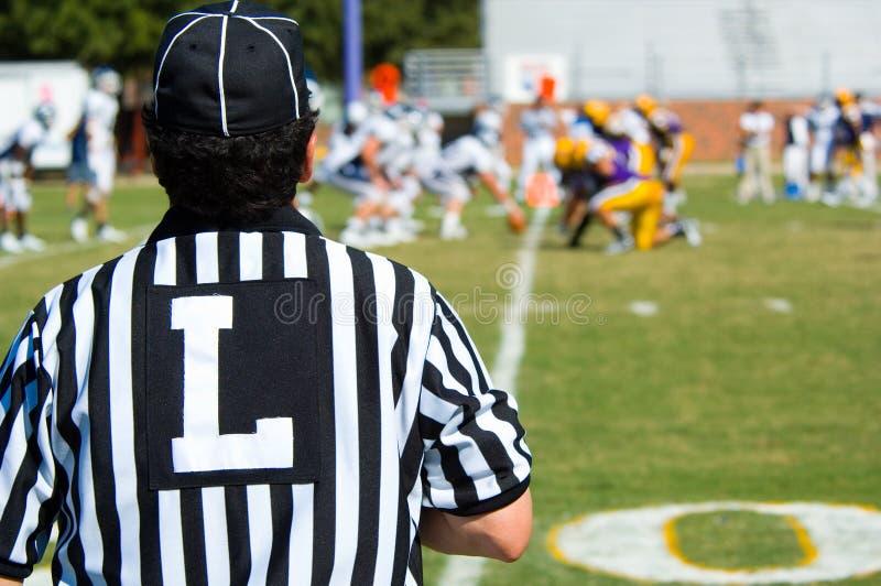 Funzionario del gioco di football americano - arbitro immagine stock