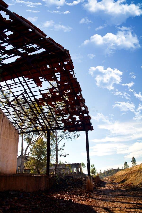Funzione industriale abbandonata di estrazione mineraria fotografia stock
