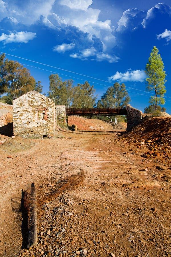 Funzione industriale abbandonata di estrazione mineraria fotografie stock libere da diritti