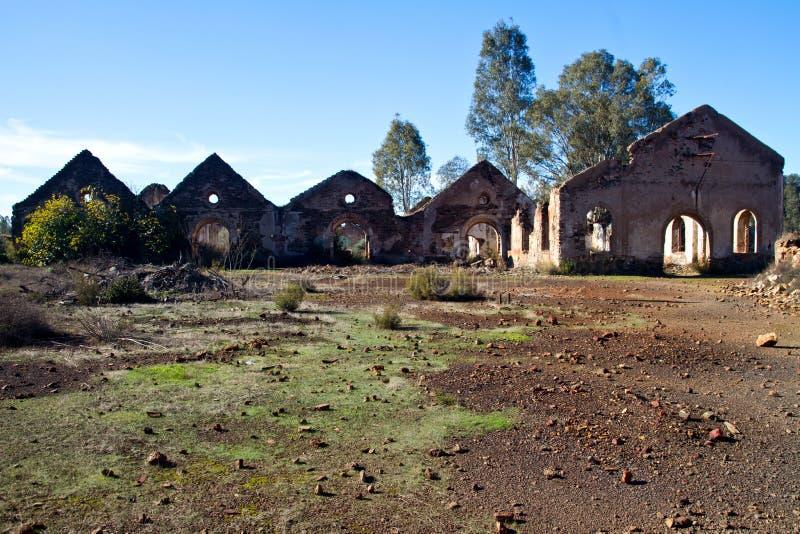 Funzione industriale abbandonata di estrazione mineraria fotografia stock libera da diritti