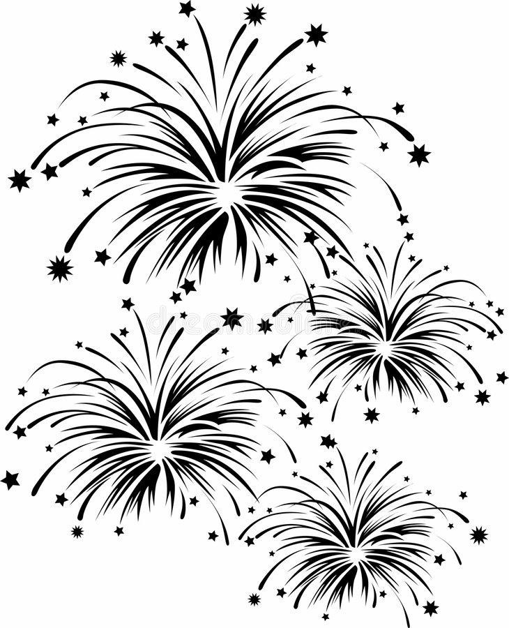 Fuochi d'artificio royalty illustrazione gratis