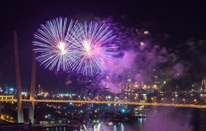 Fuochi d'artificio. fotografie stock