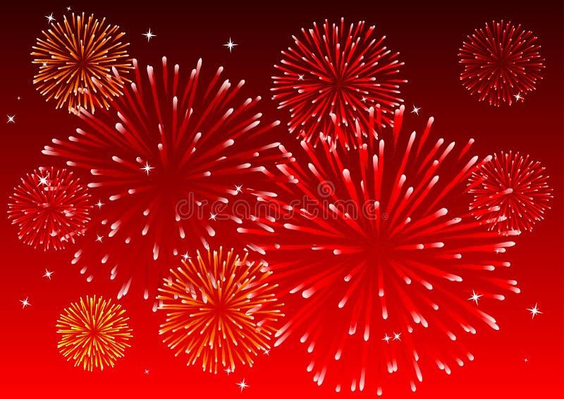 Fuochi d'artificio illustrazione vettoriale
